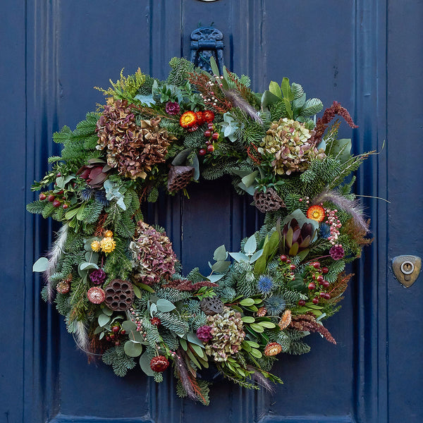 Dried Flower Christmas Wreath