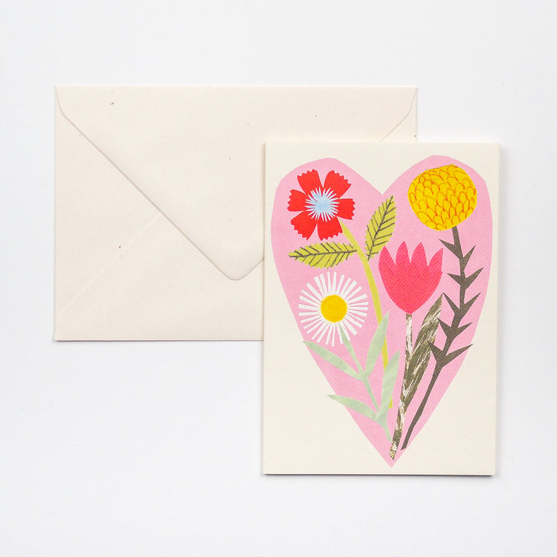 Floral Heart Greetings Card