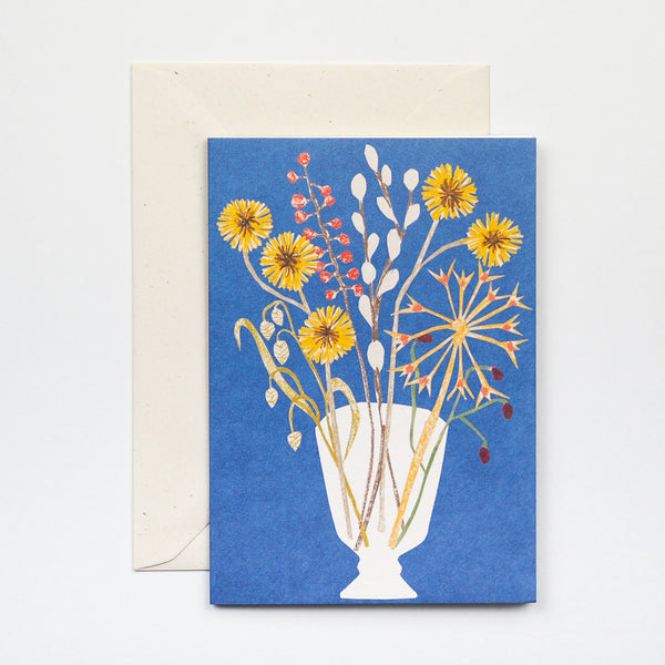 Glass Vase Greetings Card