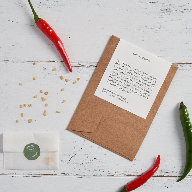 Kitchen Garden Seed Set - Chilli, Mint, Basil and Thyme.