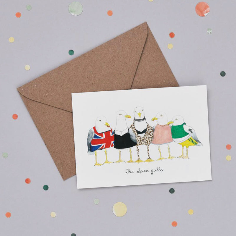 Spice Gulls Greetings Card