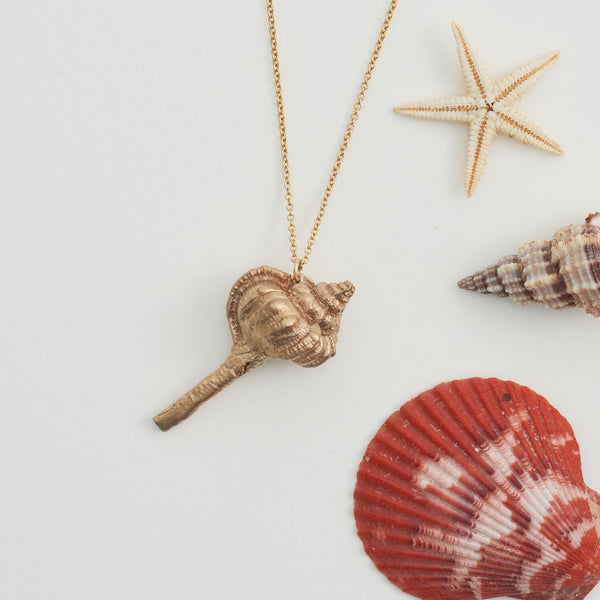 Hand Cast Shell Necklace | Conch