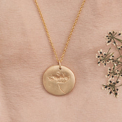 Hand Cast Pressed Flower Necklace | Dill