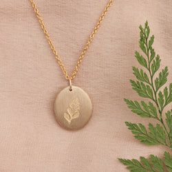 Hand Cast Pressed Flower Necklace | Fern