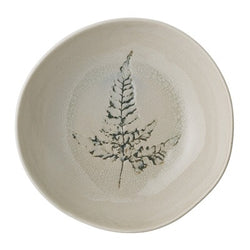 Pressed Botanicals Fern Stoneware Soup Bowl