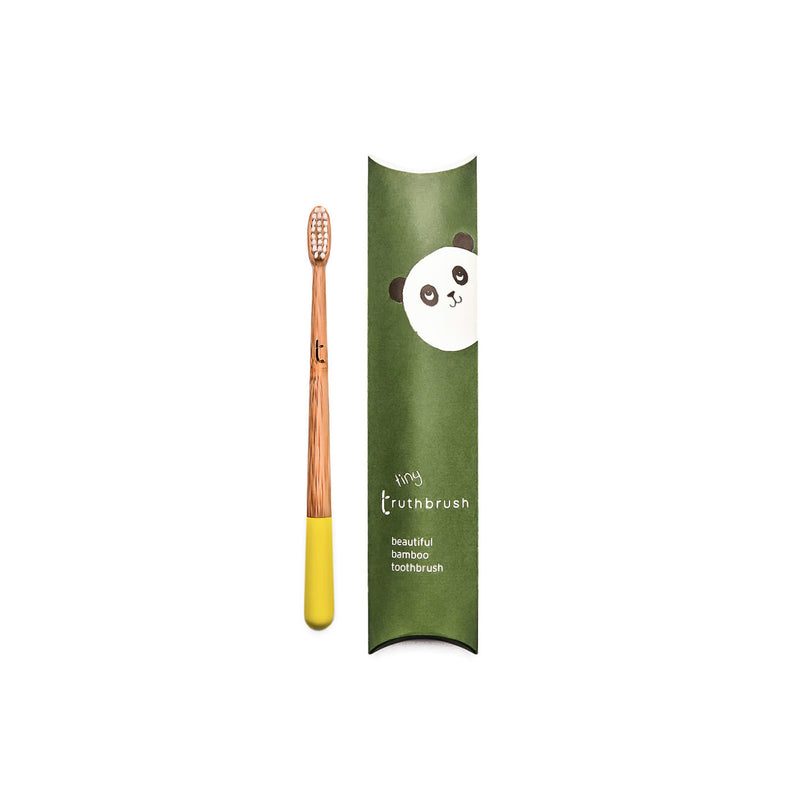 Tiny Bamboo Childrens Toothbrush by Truthbrush | Soft Bristles