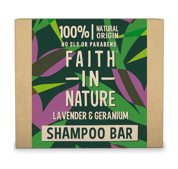 Faith in Nature Lavender & Geranium Shampoo Bar 85g