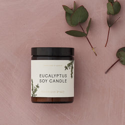 Hand-poured Eucalyptus scented Soy Candles