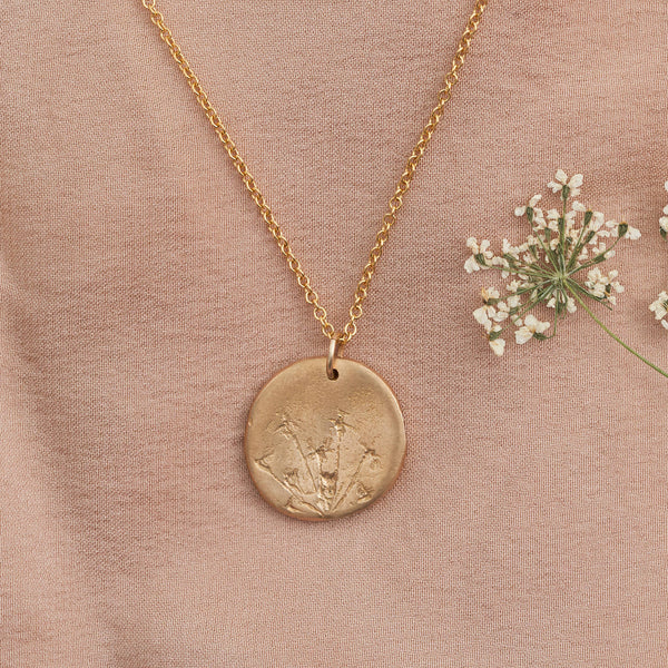 Hand Cast Pressed Flower Necklace | Ammi