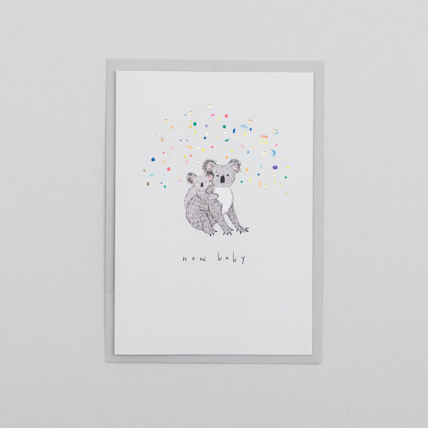New Baby Koala Greetings Card
