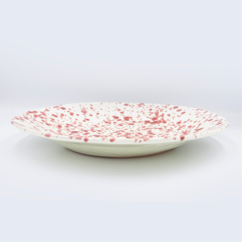 Ceramic Shallow Serving Bowl by Hot Pottery in Cranberry