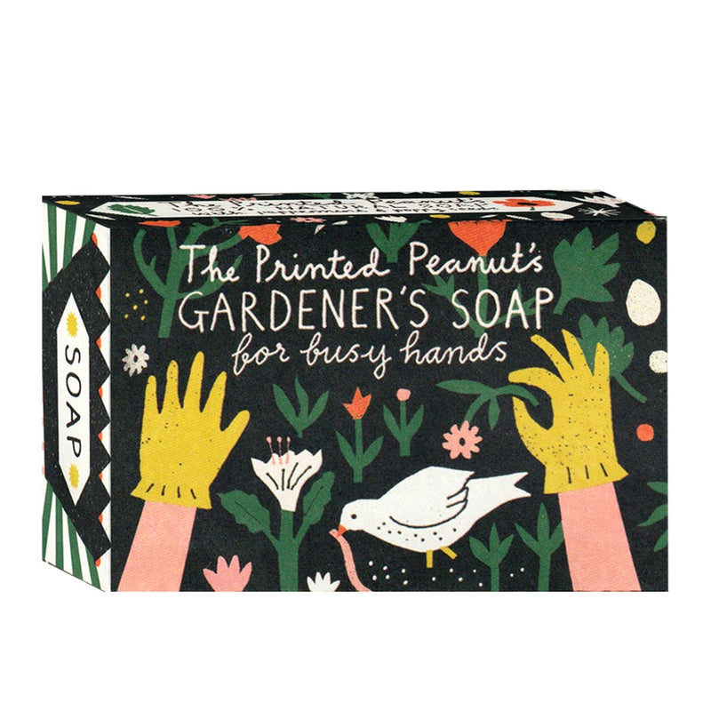 Printed Peanut Natural Handmade Gardener's Soap Bar