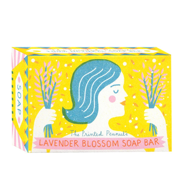 Printed Peanut Natural Handmade Lavender Blossom Soap Bar