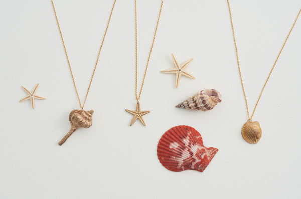 Hand Cast Shell Necklace | Spiral