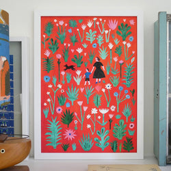 Printed Peanut A Walk In The Flowers Collage 30 x 40cm Fine Art Print