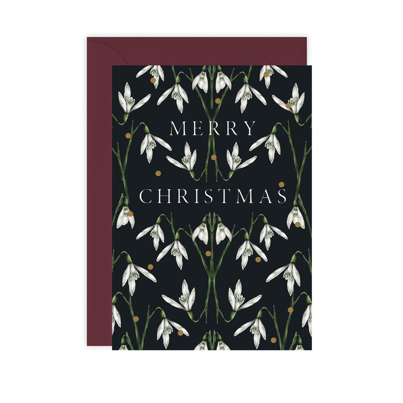 Box of 8 Botanical Luxury Christmas Cards - 'Merry Nouveau' Collection