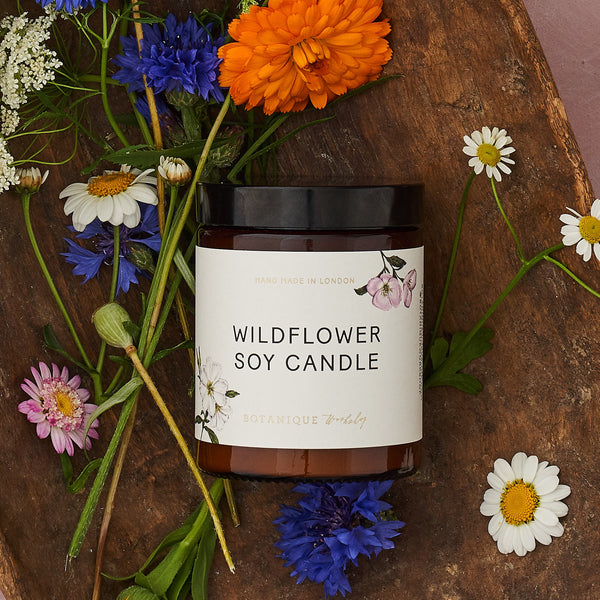 Hand-poured Wildflower scented Soy Candles