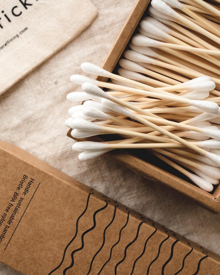 Bamboo Cotton Buds | 100% Biodegradable | 200 Buds by Goldricka