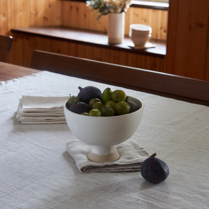 Hand Thrown Footed Fruit Bowl