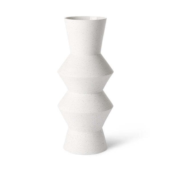 Speckled clay vase angular - Medium