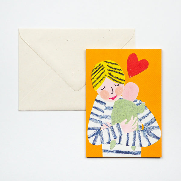 New baby Cuddle Greetings Card