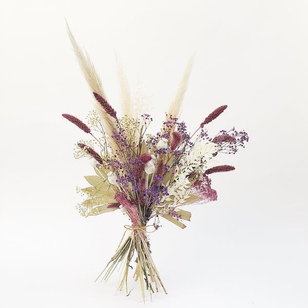 Dried Flower Bunch: Muted Purples