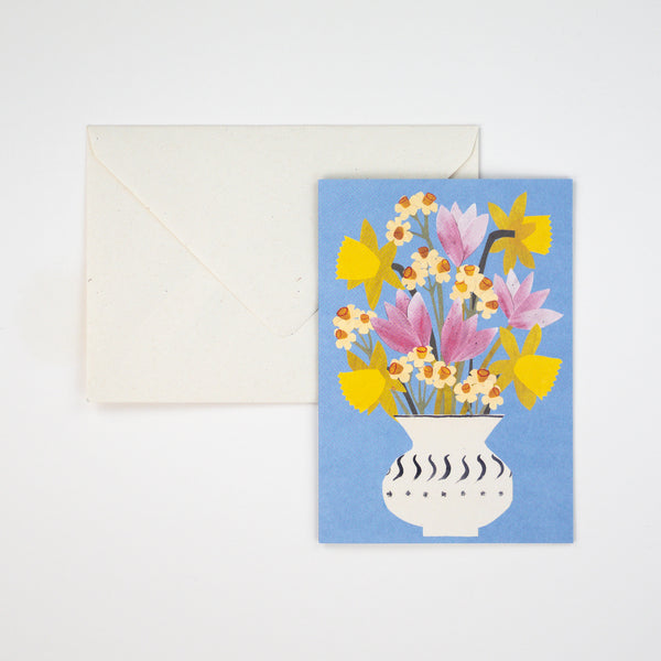 Spring Flowers Greetings Card