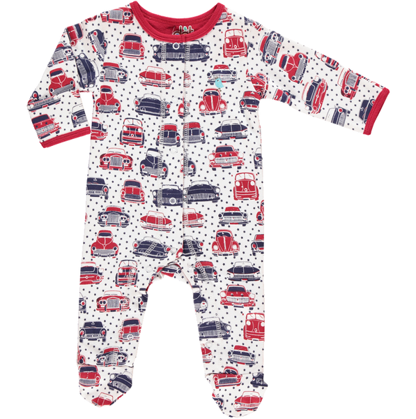 Mad about Cars Babygrow - Dot&Co Organics