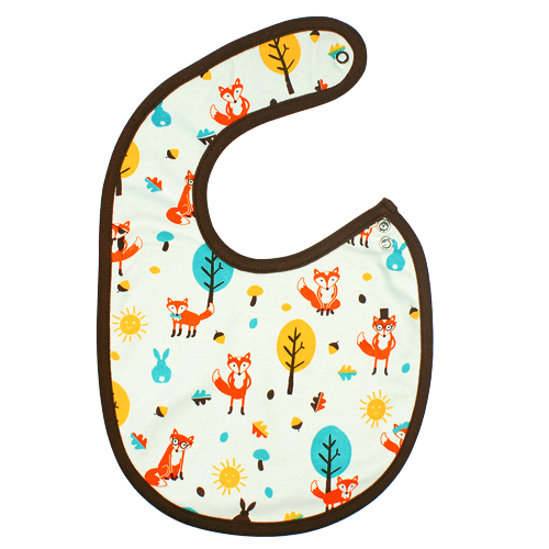 Mr Fox & Friends Bib - Dot&Co Organics