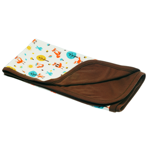 Mr Fox & Friends Reversible Blanket - Dot&Co Organics