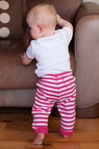 Pink Stripe Reversible Trousers - Dot&Co Organics