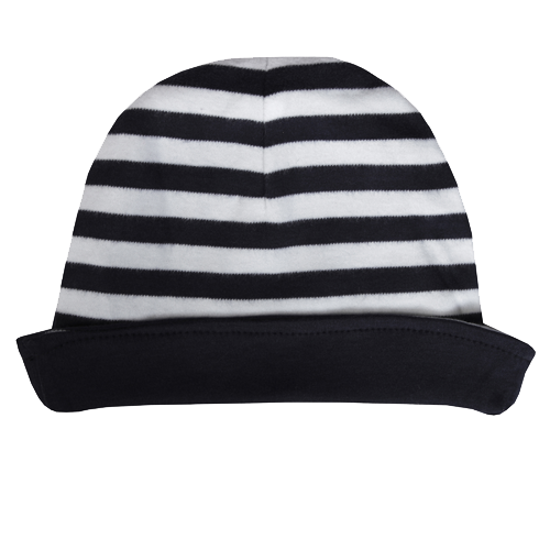 Navy Stripe Reversible Hat - Dot&Co Organics