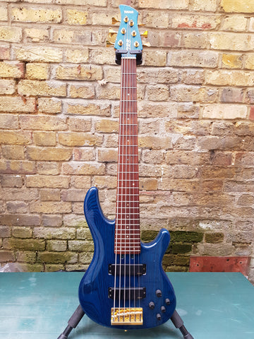 Yamaha Japan TRB 6 6 String Bass Trans Blue Pre Owned