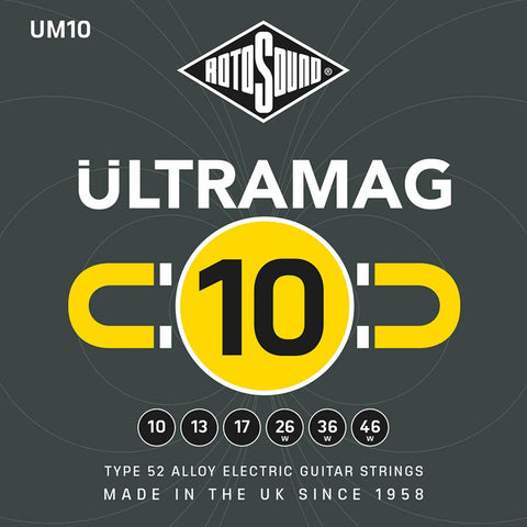 Rotosound UM10 Ultra Mag 10-46 Electric Guitar Strings x 2 Sets Free Shipping At Cart