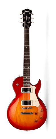 Cort CR100 CRS Single Cutaway Cherry Red Sunburst