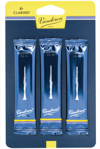 Vandoren Reeds Clarinet Bb 3 Traditional (3 Pack)