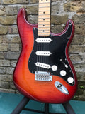 Fender Player Plus Top Stratocaster NOS Aged Cherry Sunburst Flame Top