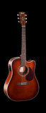 Cort ME500E-BR Cutaway Dreadnought Brown Sunburst
