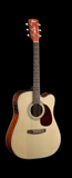 Cort ME500E-OP Cutaway Dreadnought Open Pore Natural