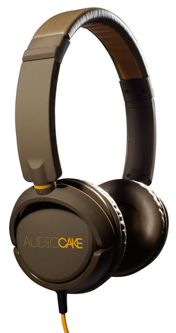TGI Audiocake Headphones Brown and Orange