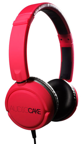 TGI Audiocake Headphones Red and Black