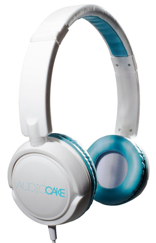 TGI Audiocake Headphones White and Blue