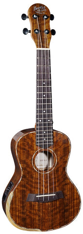 Barnes and Mullins BMUK5CE Gloss Walnut Concert Electric Ukelele