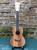 Blackwater Zebrano Concert Ukelele with Pickup
