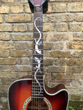 Dean Tuscon Electroacoustic Cutaway Sunburst with Inlay Art 2006