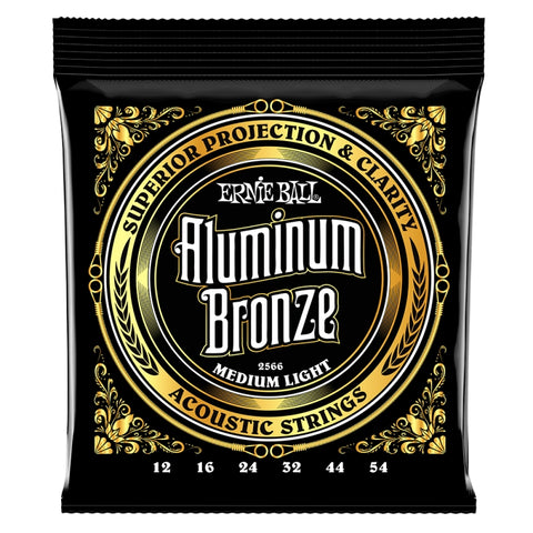 Ernie Ball 2566 Aluminium Bronze Acoustic Guitar Strings 12-54 x 2 Sets