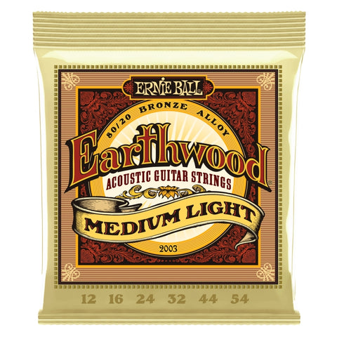 Ernie Ball 2003 Earthwood 80/20 Acoustic Guitar Strings 12-54 x 3 Sets
