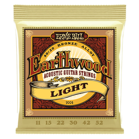 Ernie Ball 2004 Earthwood 80/20 Acoustic Guitar Strings 11-52 x 3 Sets
