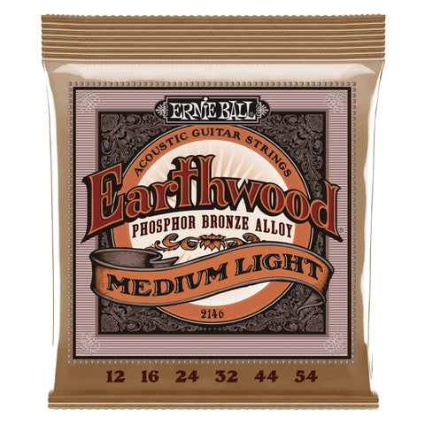 Ernie Ball 2146 Earthwood Phosphor Bronze Acoustic Guitar Strings 12-54 x 3 Sets Free Shipping At Cart