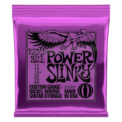 Ernie Ball 2220 Power Slinky 11-48 Electric Guitar Strings 2 Sets